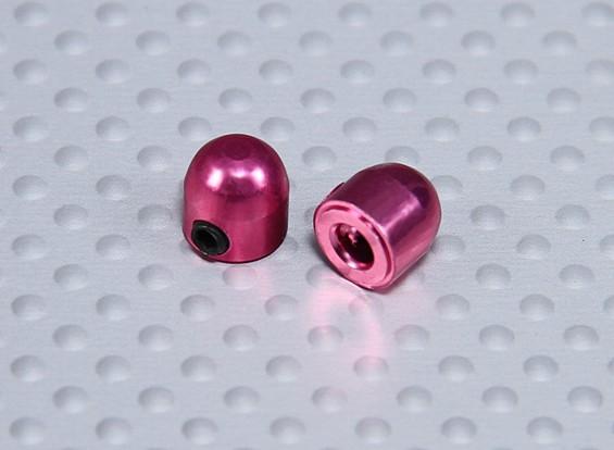 Cúpula de ruedas de aluminio de 3,1 mm de cuello (2pcs)