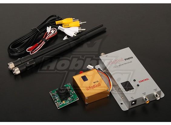 900MHZ 800mW Tx / Rx & 1/3 pulgadas PAL cámara CCD