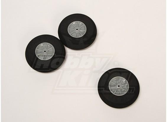 Esponja de ruedas D70xH22 (3pcs / bolsa)