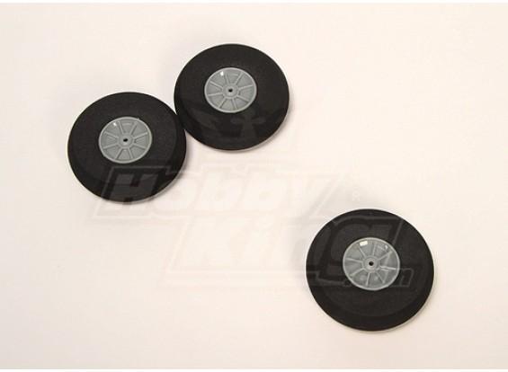 Esponja de ruedas D75xH22 (3pcs / bolsa)