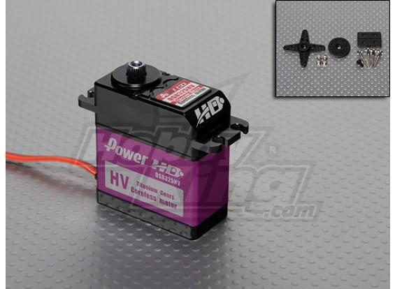 DS8325HV energía HD Titanium del engranaje de alto voltaje Servo 31kg / 79g / .118sec