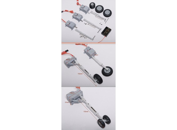 Servoless Digital Landing Gear ajustable conjunto