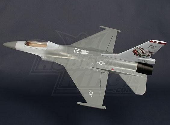 70mm EDF avión de combate - Fibra de vidrio 620mm (ARF)