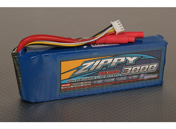40C ZIPPY Flightmax 3000mAh 3S1P