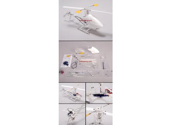 Helicóptero Fire Fox EP100 Micro 3D w / Motor solamente (KIT SOLO)