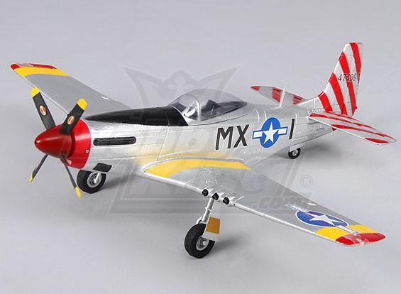 Micro P-51D w / luces de navegación 550mm (PNF)
