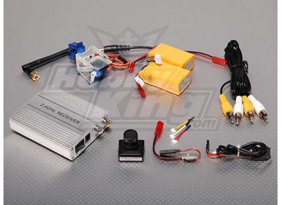 2,4 Ghz Video System FPV w cámara CCD / 1/4 pulgadas