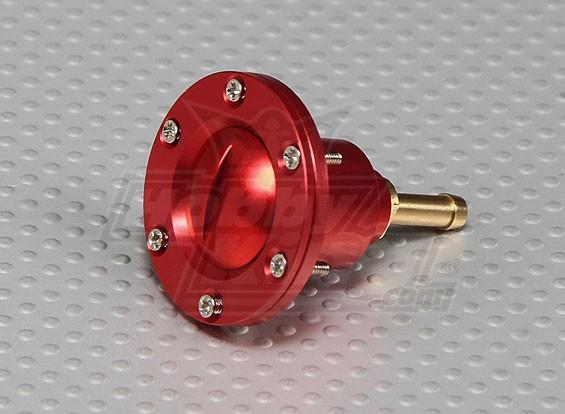 CNC de la aleación de llenado de combustible de puerto para los modelos a gran escala de gas / combustible de turbina (Dot - rojo)