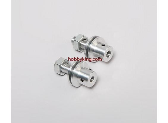 Prop adaptador w / Acero Tuerca M8x5mm eje (Grub tipo tornillo)