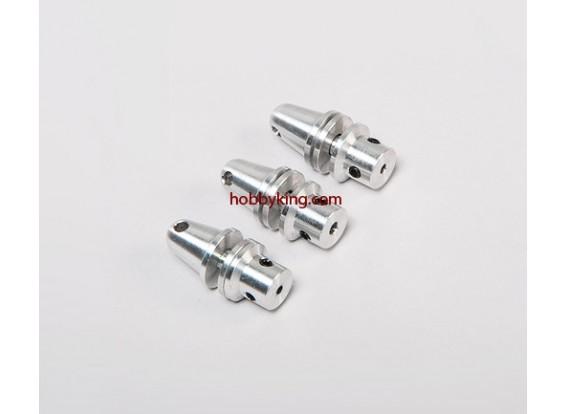 Prop adaptador w / Alu Cono 3 / 16x32-2.3mm eje (Grub tipo tornillo)
