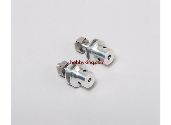 Prop adaptador w / Acero Tuerca 1 / 4x28-3.2mm eje (Grub tipo tornillo)