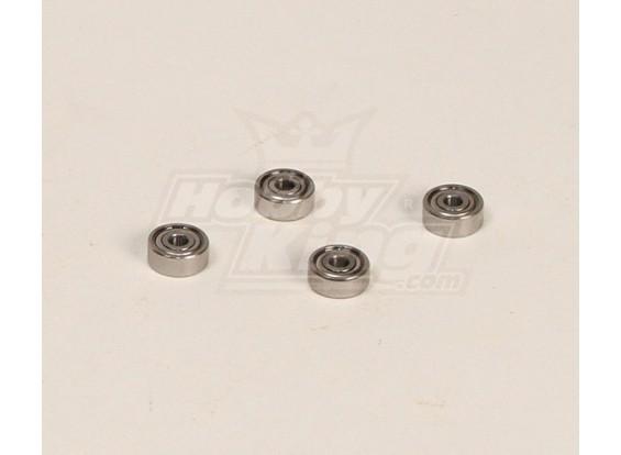HK600GT rodamientos de bolas Pack (3x10x4mm) 4pcs / bolsa