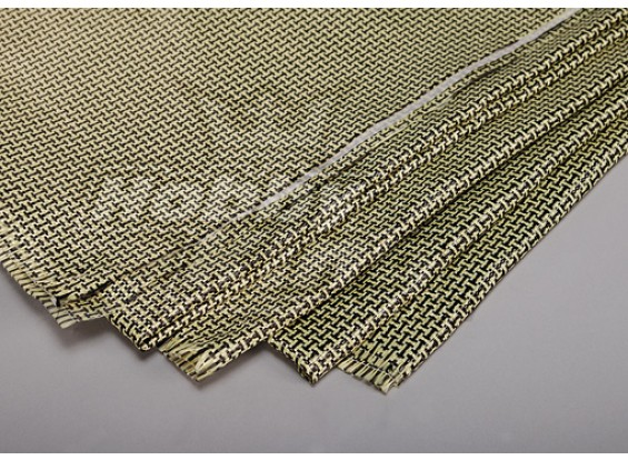 3K fibra de carbono y Kevlar-29 Cloth (180g / m2) 2 hojas - 1000 mm x 500 mm