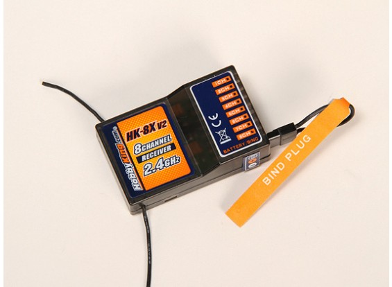 Manía Rey HK-8X receptor de 2,4 GHz 8Ch (V2)