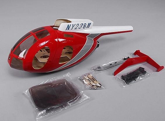 Hughes MD500 de fibra de vidrio de fuselaje para el tamaño 450 heli