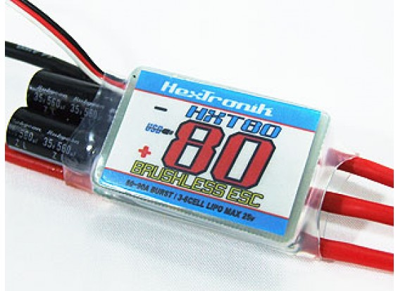 hexTronik PRO 80A BESC w / programación de PC