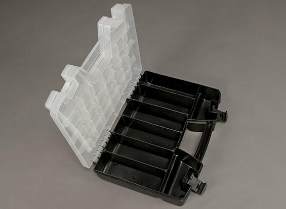 Plástico multiuso Organizador de 2 bandejas 34 Compartimiento