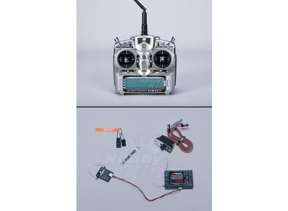 JR DSX9 MK2 transmisor DSM2 2.4G w / receptor RD921 (Modo 2)