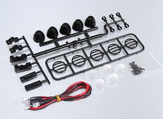1/10 de luz LED de oruga Bar Set (Negro)