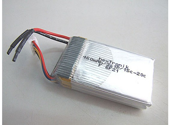 hexTronik 460mAh 11.1v Lipo 15C Paquete