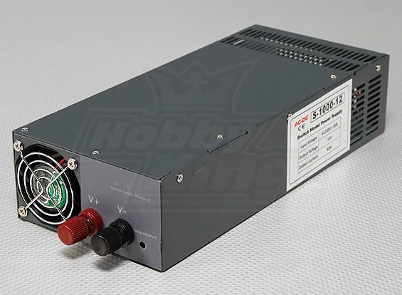 Hobbyking 1000W 10V ~ 13,2 V 80A Fuente de corriente continua (190 ~ 240V)