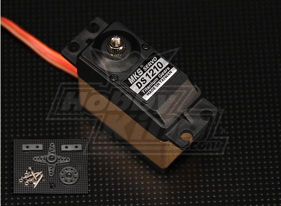 MKS DS1210 titanio Gear Servo (0,12 seg / 10 kg-cm)