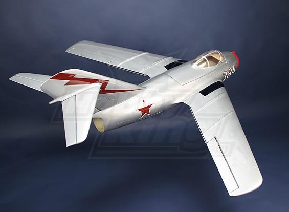 Mig-15 de fibra de vidrio de 90 mm Jet EDF, 1127mm (ARF)