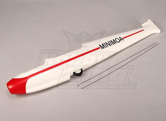Minimoa - Piezas de fuselaje y las Barras de Control Conjunto