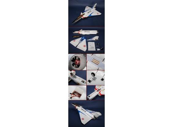 Mirage 4000 de combate w / sin escobillas EDF y retrae Plug-n-Fly