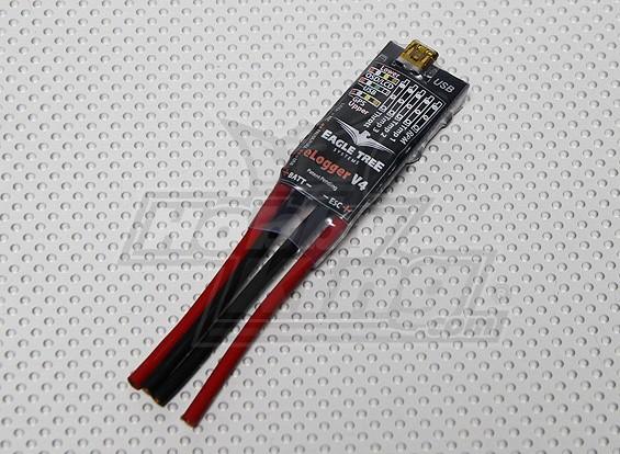 EagleTree MicroPower E-Logger V4 con extremidades del hilo, 80Volts, 100 Amperios (almacén de los EEUU)