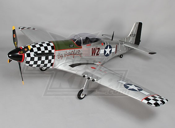 P-51D de Big Beautiful Doll 1600mm EPO w / Retrae eléctricos, alerones, luces (FNP)