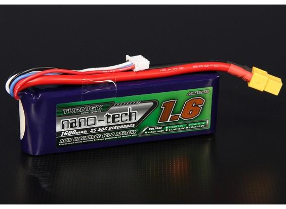 Turnigy nano-tech 1600mah 3S 25 ~ 50C Lipo Pack de