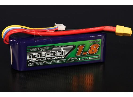 Turnigy nano-tech 1800mah 4S 35 ~ 70C Lipo Pack de