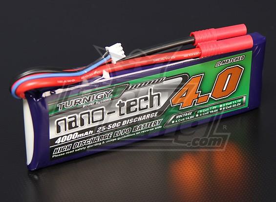 Turnigy nano-tech 4000mah 2S 25 ~ 50C Lipo Pack de