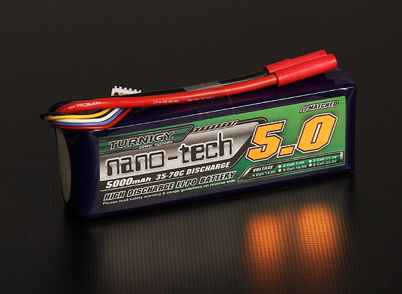 Turnigy nano-tech 5000mah 4S 35 ~ 70C Lipo Pack de