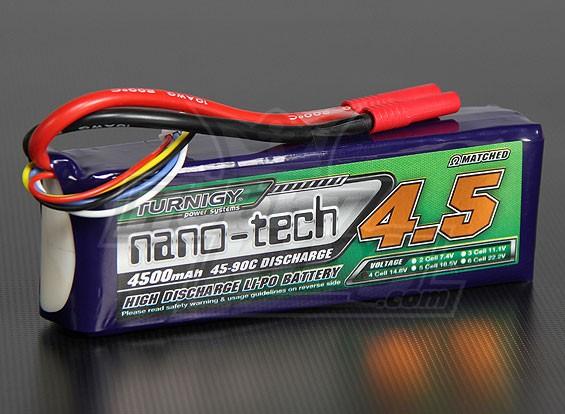 Turnigy nano-tech 4500mAh 4S 45 ~ 90C Lipo Pack de