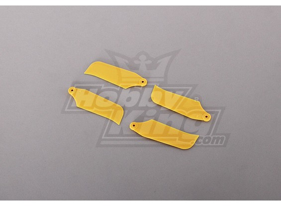 450 Tamaño Heli amarillo lámina de la cola (2pairs)
