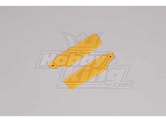 450 Tamaño Heli plástico amarillo lámina de la cola (par)