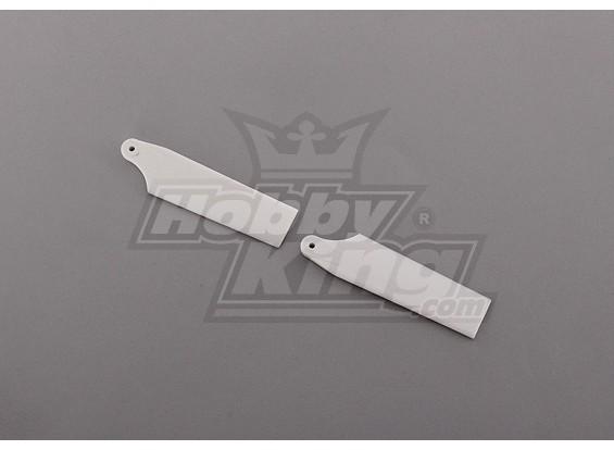 450 Tamaño Heli plástica blanca de lámina de la cola (par)