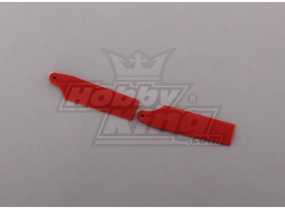 450 Tamaño Heli Red lámina de la cola (par)