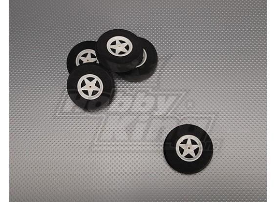 5 ruedas de radios con absorción de impactos D65xH18mm (5pcs / bolsa)