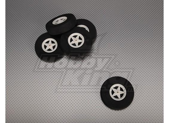 5 ruedas de radios con absorción de impactos D70xH18mm (5pcs / bolsa)