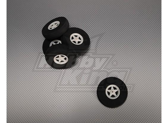 5 ruedas de radios con absorción de impactos D75xH18mm (5pcs / bolsa)