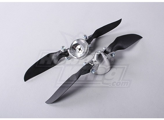 Plegable 6.5x4 ensamblador Propeller (Aleación Hub / Spinner) (2pcs / bolsa)