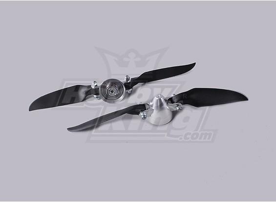 Plegable 7.5x4 ensamblador Propeller (Aleación / Hub Spinner) (2 piezas / bolsa)