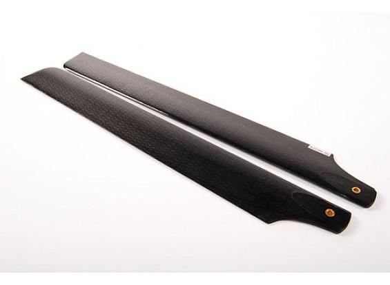 288mm fibra de carbono principal Cuchillas
