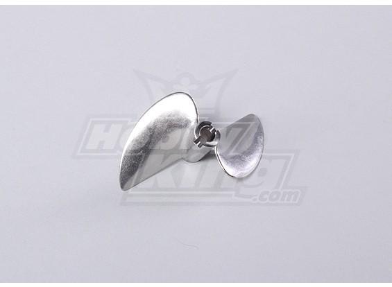 2-hoja de acero inoxidable para barcos Prop 470 x 1/4 (1pc / bolsa)