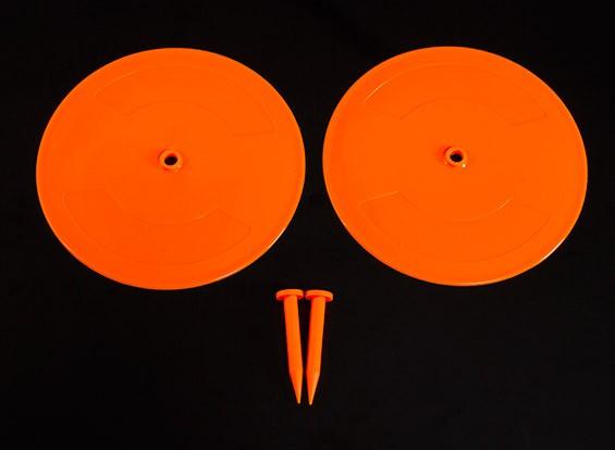Control de radio del coche Pista Drift Día marcadores resplandor naranja 2 x 200mm