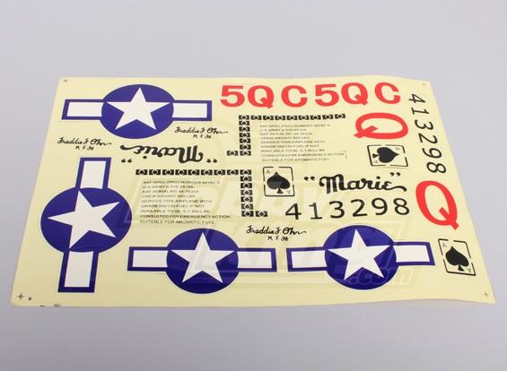 P-51 P & P (1,2 m) sistema de la etiqueta