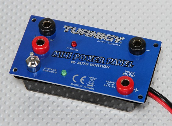 Panel de energía Mini Turnigy - 12v con Auto Glow Conductor